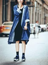 Denim Plain Long Oversized Jackets