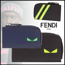 FENDI Calfskin Street Style Coin Cases