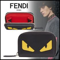 FENDI BAG BUGS Calfskin Street Style Plain Coin Cases