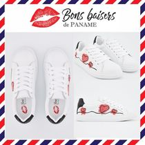 Bons baisers de Paname Heart Leather Low-Top Sneakers