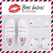 Bons baisers de Paname Heart Casual Style Leather Low-Top Sneakers