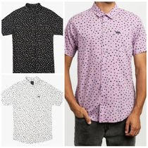 RVCA Button-down Dots Cotton Short Sleeves Shirts