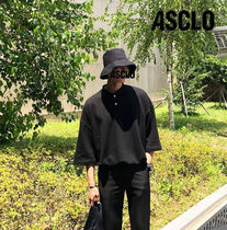 ASCLO Plain Cotton Short Sleeves Oversized T-Shirts