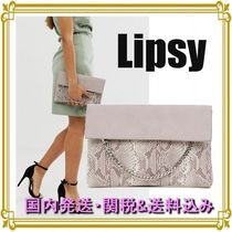 Lipsy Chain Party Style PVC Clothing Python Clutches