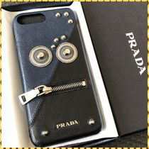 PRADA SAFFIANO LUX Bi-color Leather Smart Phone Cases