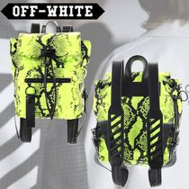 Off-White Casual Style Leather Python Backpacks
