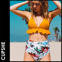 CUPSHE Flower Patterns Plain Beachwear