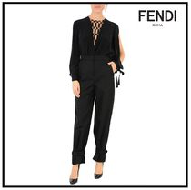 FENDI Plain Short Length Elegant Style Pants
