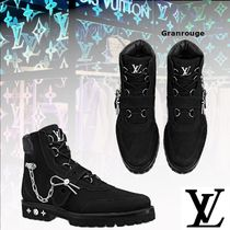 Louis Vuitton MONOGRAM Monogram Blended Fabrics Street Style Boots