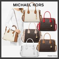 Michael Kors MERCER Monogram Blended Fabrics 2WAY Bi-color Elegant Style
