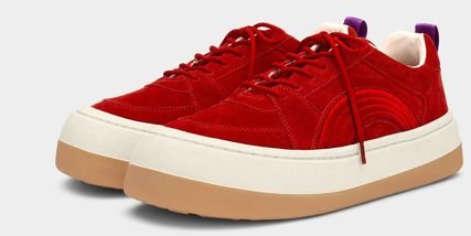 Rubber Sole Casual Style Unisex Suede Street Style Plain