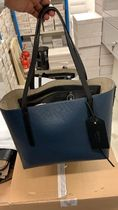 Jimmy Choo Unisex Blended Fabrics Studded Street Style A4 Leather Totes