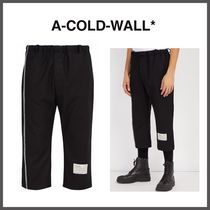 A-COLD-WALL Wool Street Style Cropped Pants