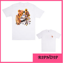 RIPNDIP Crew Neck Unisex Street Style Cotton Short Sleeves