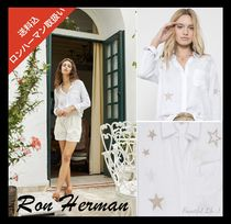 Ron Herman Star Linen Blended Fabrics Long Sleeves Medium Handmade