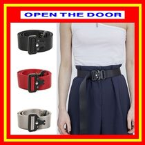 OPEN THE DOOR Unisex Street Style Plain Belts