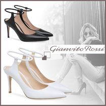 Gianvito Rossi Leather Elegant Style High Heel Pumps & Mules