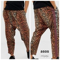ASOS Tapered Pants Leopard Patterns Street Style Tapered Pants
