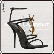Saint Laurent Leather Elegant Style High Heel Pumps & Mules