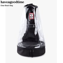 have a good time Unisex Street Style Plain PVC Clothing Bags