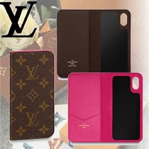 Louis Vuitton MONOGRAM Monogram Leather Smart Phone Cases