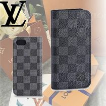 Louis Vuitton DAMIER GRAPHITE Leather Smart Phone Cases