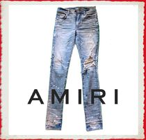 AMIRI Plain Cotton Skinny Fit Jeans & Denim