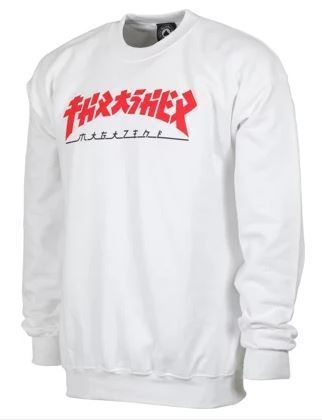 THRASHER Sweatshirts Crew Neck Pullovers Unisex Street Style Long Sleeves Plain 2
