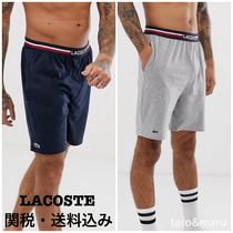 LACOSTE Stripes Street Style Cotton Shorts