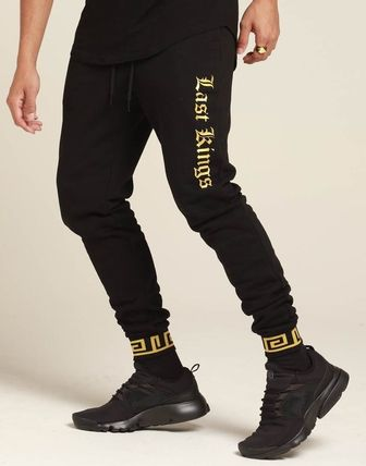 Tapered Pants Unisex Sweat Street Style Collaboration Logo