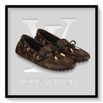 Louis Vuitton Monogram Round Toe Casual Style Blended Fabrics