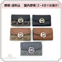 Michael Kors Unisex Bi-color Plain Leather Keychains & Bag Charms