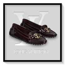 Louis Vuitton Round Toe Casual Style Blended Fabrics Plain Leather