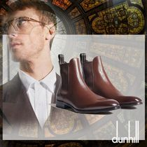 Dunhill Street Style Plain Leather Chelsea Boots Chelsea Boots