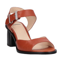 JIL SANDER NAVY Plain Leather Heeled Sandals