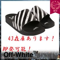 Off-White Stripes Street Style Shower Shoes Shower Sandals