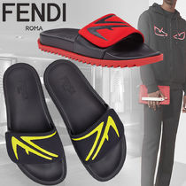 FENDI Leather Shower Shoes Shower Sandals