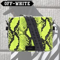 Off-White Casual Style 2WAY Leather Python Shoulder Bags