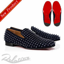 Christian Louboutin ROLLERBOY Loafers Suede Studded Plain Loafers & Slip-ons