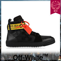 Off-White Unisex Street Style Leather Sneakers