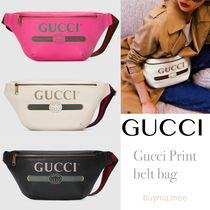 GUCCI Casual Style Unisex Street Style Plain Leather Bags