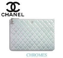 CHANEL ICON Unisex Lambskin 2WAY Chain Plain Clutches