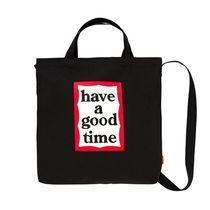 have a good time Unisex Street Style Plain PVC Clothing Logo Bags