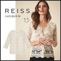 REISS Casual Style Cropped Lace Shirts & Blouses
