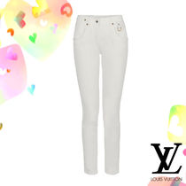 Louis Vuitton Blended Fabrics Plain Cotton Skinny Pants