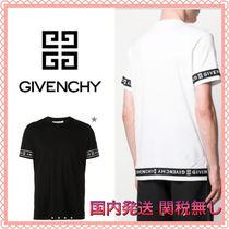 GIVENCHY Plain Short Sleeves Logos on the Sleeves T-Shirts