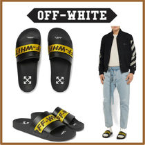 Off-White Blended Fabrics Street Style Leather Shower Shoes