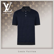 Louis Vuitton Blended Fabrics Street Style Cotton Short Sleeves Polos