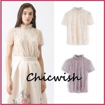 Chicwish Medium Short Sleeves With Jewels Elegant Style
