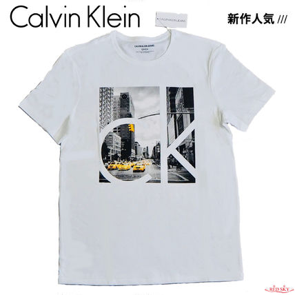 Calvin Klein More T-Shirts Street Style Short Sleeves T-Shirts 4